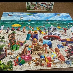 1000 piece puzzle, Beach Day by White Mountain